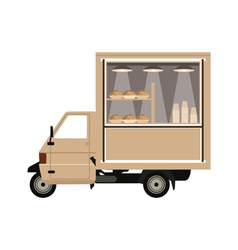 Coffee car vector