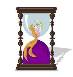 Hourglass mother life vector