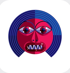 Personality face colorful made from geometri vector