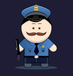 Cute policeman with truncheon vector