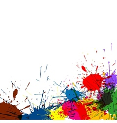 Splatter paint background vector