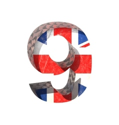 Great britain cutted figure 9 paste to any vector