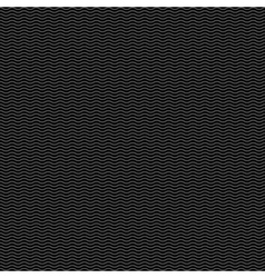 Black seamless pattern with stylized waves vector