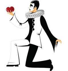 Black and white clown vector