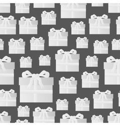 White paper gift package seamless pattern eps10 vector