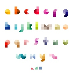 Abstract font set vector