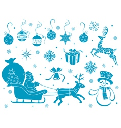 Set of christmas stencils vector