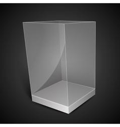 White glass rectangle box vector