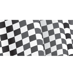 Background with waving racing flag vector