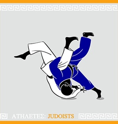 Athlete judoists vector