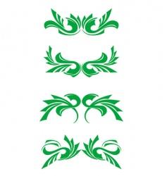 Flourishes decorations vector