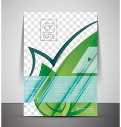 Green nature concept print template vector