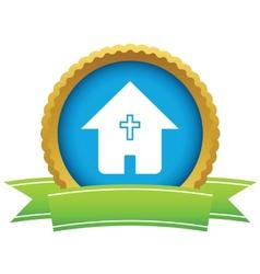 Gold church logo vector
