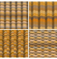 Abstract warm colored waves seamless pattern vector