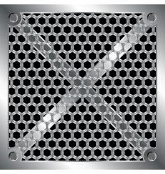 Metallic grid vector