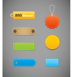 Labels price tags vector