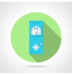 Water cooling system flat round icon vector