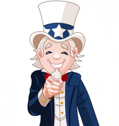 Uncle sam wants you vector