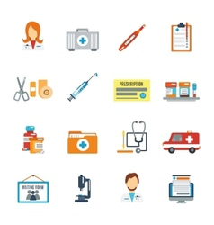 Doctor icon flat vector