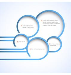 Abstract web design bubbles vector