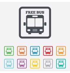 Bus free sign icon public transport symbol vector