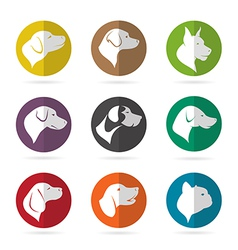 Group of dog in the circle vector