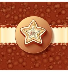 Christmas chocolate greetings card vector
