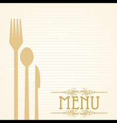 Template for menu card with cutlery vector