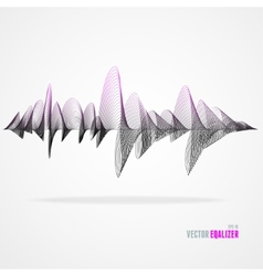 Equalizer colorful musical bar vector