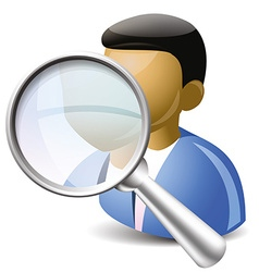 Search user icon vector