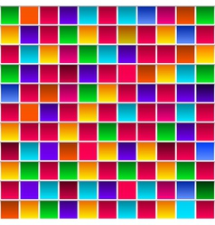 Colorful childish rainbow colored squares seamless vector