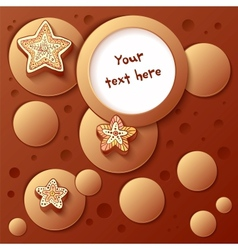 Christmas chocolate bubbles greetings card vector