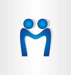 Letter m agreement people handshake icon vector