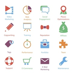 Color internet marketing icons vol 2 vector