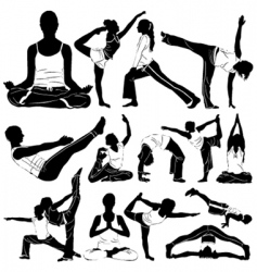Yoga clothes detail vector