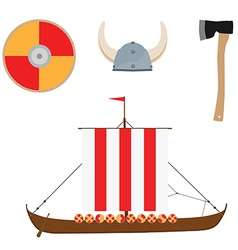 Viking set vector
