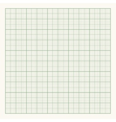 Green graph paper on light background vector
