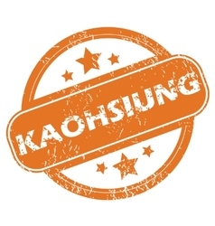 Kaohsiung rubber stamp vector