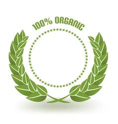 Organic certificate vector
