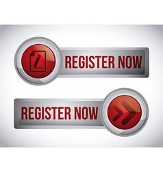 Register button design vector