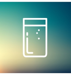 Glass of soda thin line icon vector