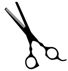 Hair scissor vector