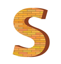 Brick letter s vector