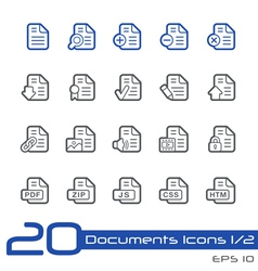 Documents icons outline series vector