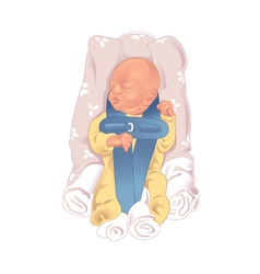 Baby in car seat vector