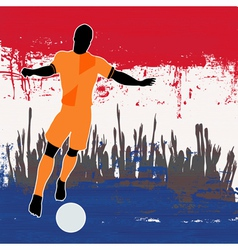 Football netherlands vector