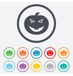 Halloween pumpkin sign icon halloween party vector