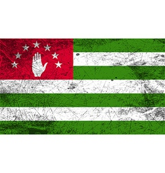 Flag of abkhazia with old texture vector