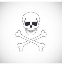 Skull and crossbones sign vector