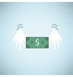Dollar bank flying with wings eps10 vector